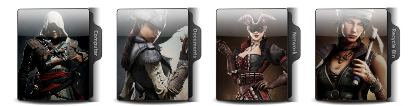 Assassins Creed IV Black Flag Theme Icons