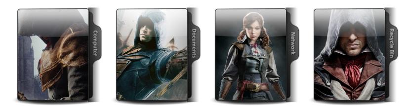 Assassins Creed Unity Theme Icons