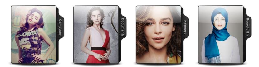 Emilia Clarke Theme Icons