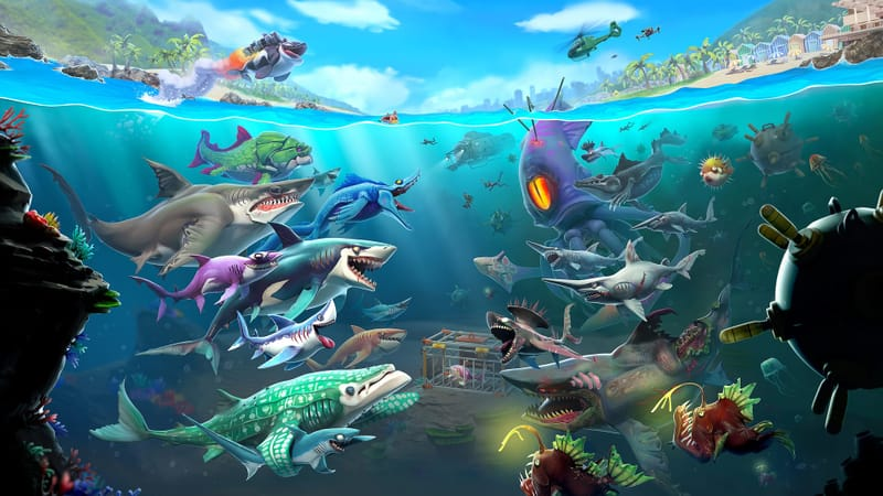 Hungry Shark World Theme Preview Image