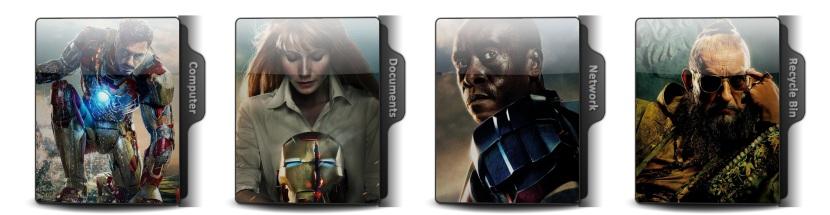 Iron Man 3 Theme Icons