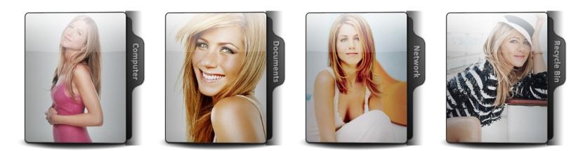 Jennifer Aniston Theme Icons