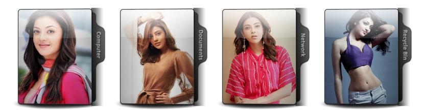Kajal Aggarwal Theme Icons