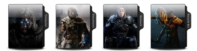 Middle Earth Shadow Of War Theme Icons