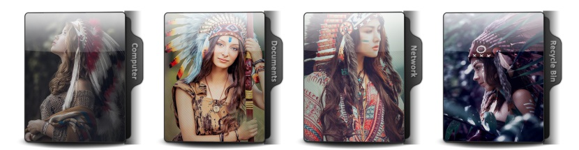 Native Americans Theme Icons