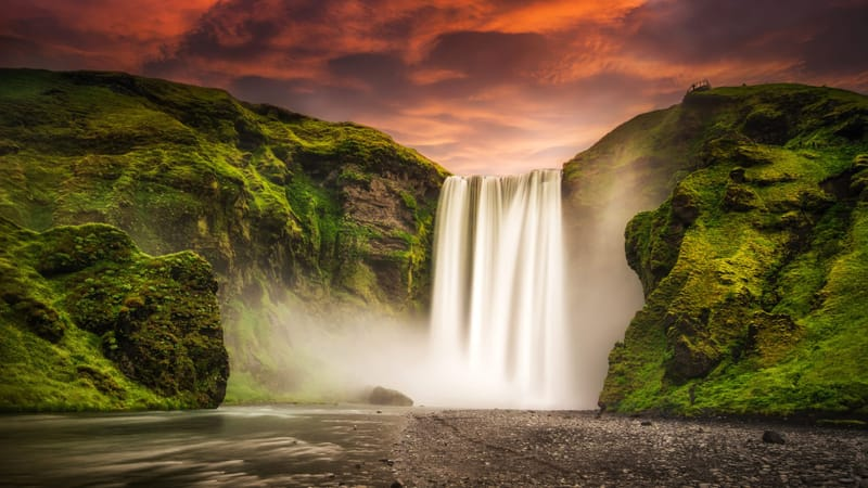 Skogafoss Waterfall Theme Preview Image