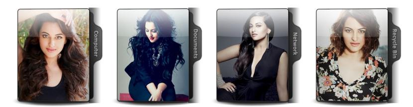 Sonakshi Sinha Theme Icons