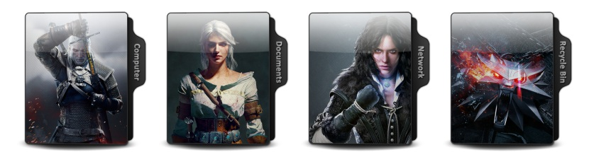 The Witcher 3 Wild Hunt Theme Icons