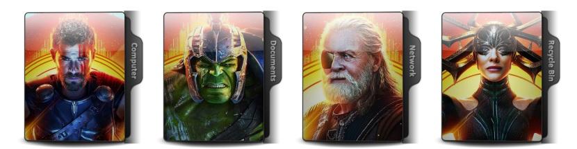 Thor Ragnarok Theme Icons