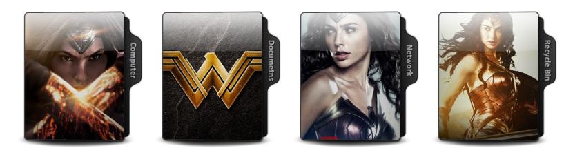 Wonder Woman Theme Icons